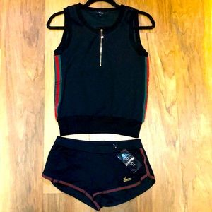Authentic Gucci short and tank top outfit
